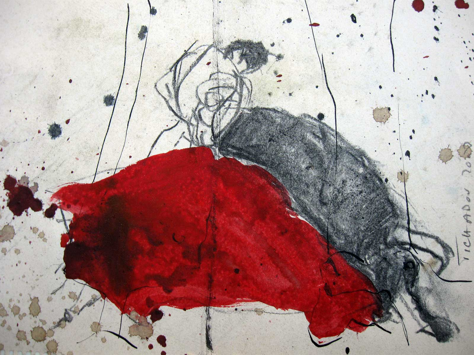 tauromachie Corinne Tichadou artiste peintre Bézier tableaux peinture art contemporain