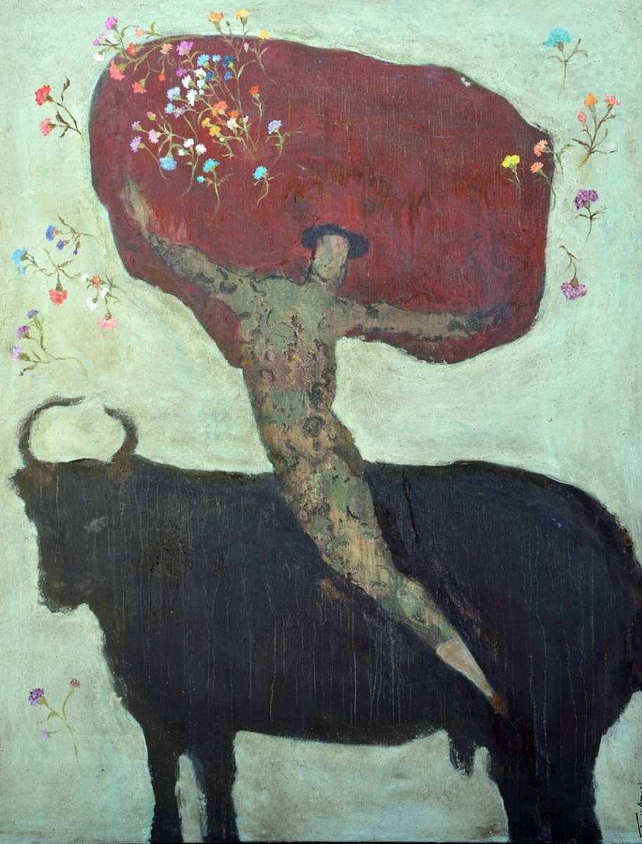 Corinne Tichadou peinture tauromachie artiste peintre Bézier tableaux peinture art contemporain