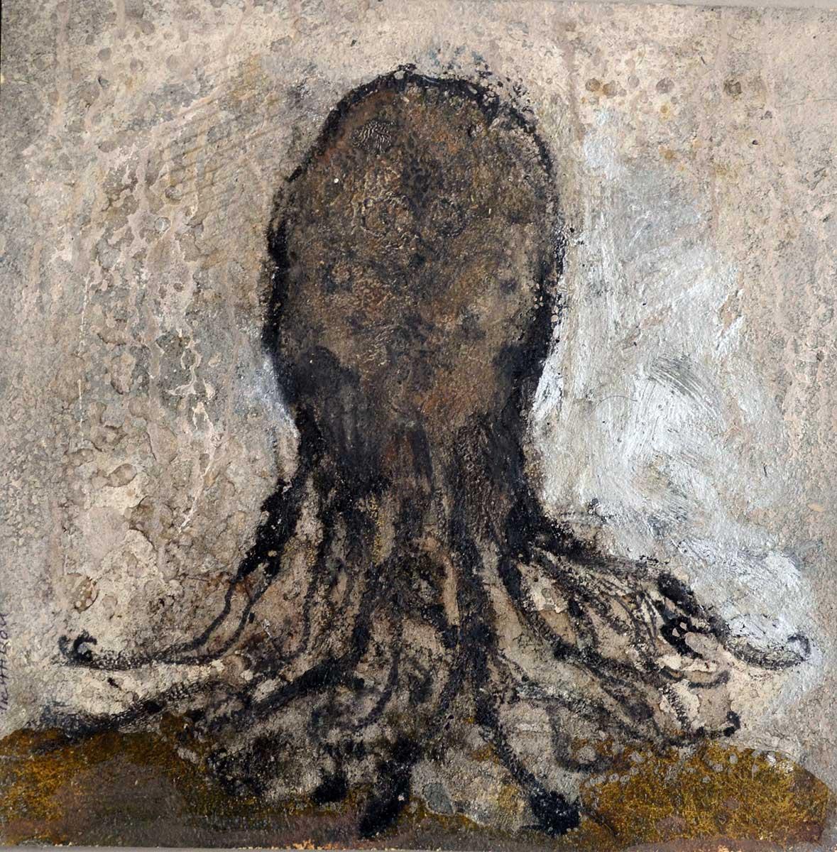 octopus Corinne Tichadou artiste peintre Bézier tableaux peinture art contemporain